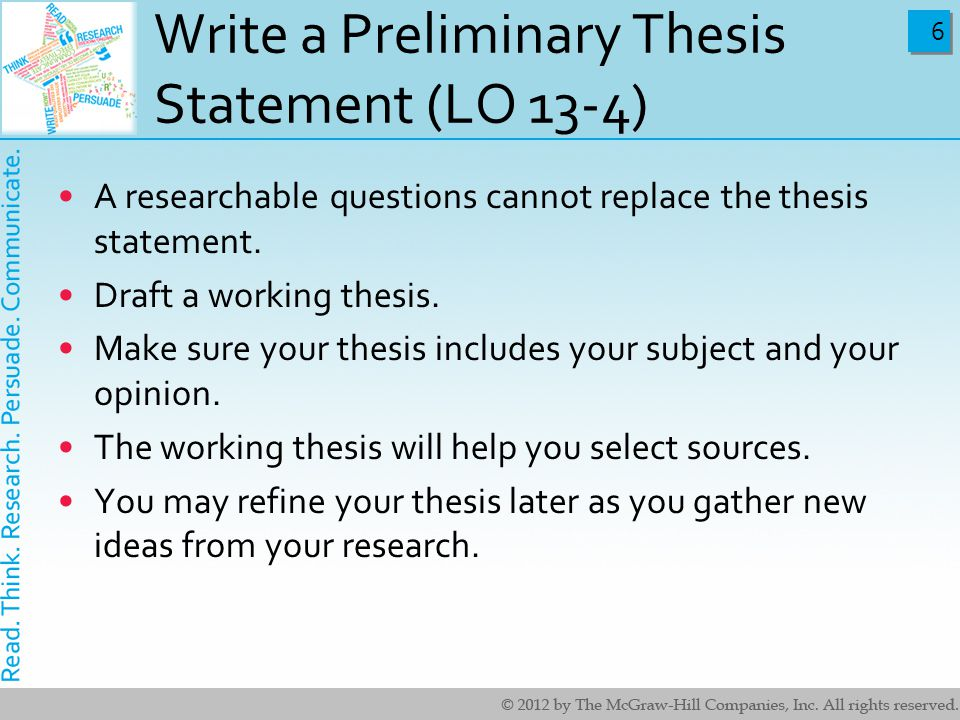How To Write A Perfect Thesis Statement College Paper Help